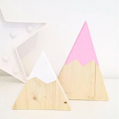 Wooden Mountain Kids Bookends Toy Children's Room Home Decor Portable Gifts