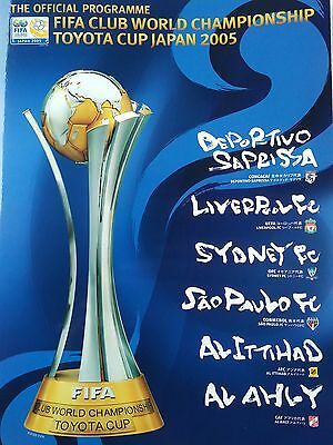 Fifa Club World Championship Toyota Cup 2005 Japan. Book bag/ programme