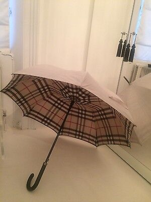 Authentic Burberry Check Lined Walking Umbrella