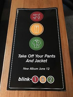 BLINK 182 - Take Off Your Pants And Jacket Rare Store Promo Poster (2001)