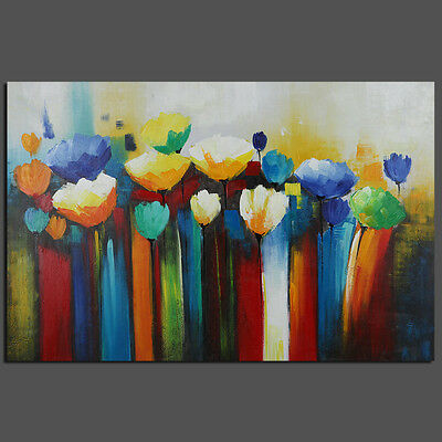 Framed Abstract Decorative Painting Hand Paint Wall Art Deco Oil Painting Flower