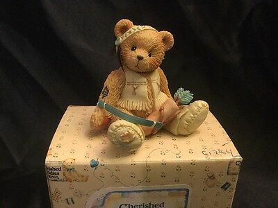 Cherished Teddies Willie 617164 Bears Of A Feather Stay Together Indian Boy