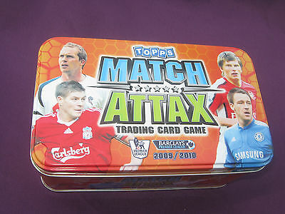 310 Match Attax Cards 2009 - 2010 Tin & 36 Limited Edition Or Silver