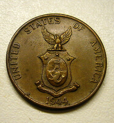 1944 S Filipinas United States of America One Centavo Coin