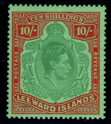 LEEWARD ISLANDS SG113c 1947 10/= GREEN & RED/GREEN MTD MINT