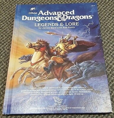 Legends & Lore - Advanced Dungeon & Dragons AD&D TSR 2013