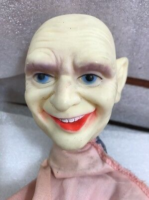 Ideal Toys The Adams Family Uncle Fester puppet 1960' hand puppet collectible