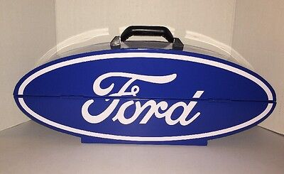 New Ford Oval Logo Sign Steel Collectible Tool Box