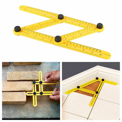 Adjustable Four-Sided Folding Measuring Tool Multi-Angle Template Scale Ruler