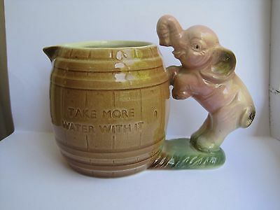 Hornsea Pottery Elephant Jug Take More Water With It!