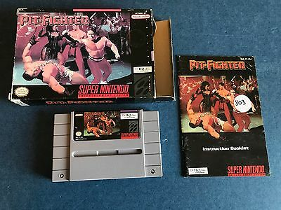 Pit-Fighter (Super Nintendo Entertainment System, 1992) SNES Complete in box