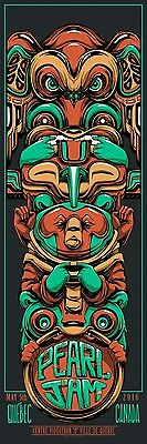 Pearl Jam Quebec City Canada Mike Fudge  Totem Pole Poster