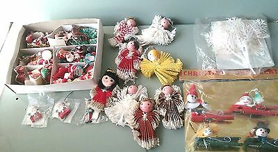 Vintage 1950s-60s Japan Made Christmas Ornaments Decorations