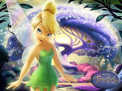 Disney Artwork Tinker Bell Oil Painting Printed on Canvas NEW GORGEOUS Photo Art