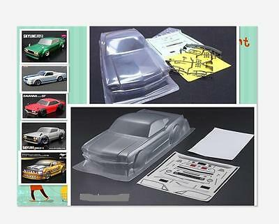 Ford Mustang 1/10 RC Drift Touring Clear Body For Rocket Bunny GT350 Tamiya HPI
