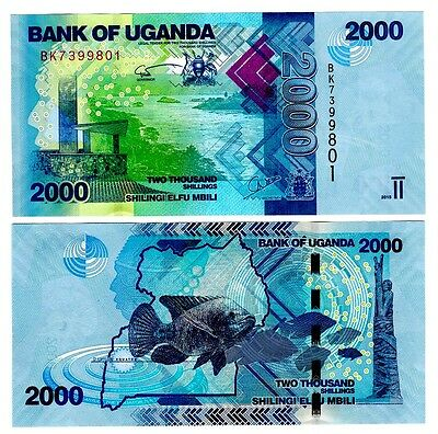 2015 Uganda 2000 Shillings Uncirculated One Note