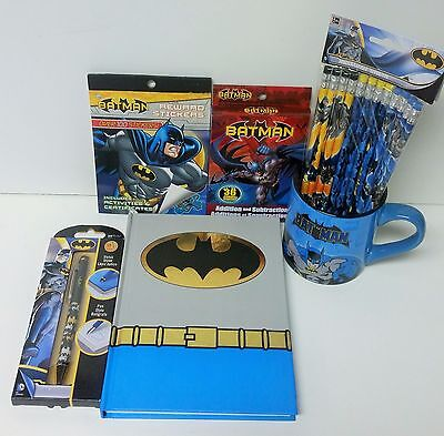 Batman Teacher's Bundle Batman Reward Stickers Batman Pencils Batman Flash Cards