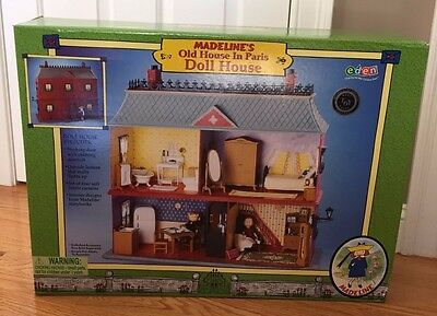 Madeline Doll House in Paris NEW in Box by eden 2000 never open