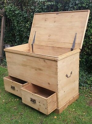antique victorian solid pine mule chest of drawers storage toy box etc