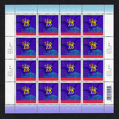 Canada Stamps - Full Pane of 16 - Canadian Governors General #1940 - MNH