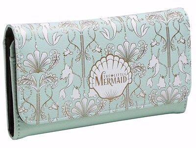Disney The Little Mermaid Gold Shell Snap Flap Wallet Clutch New with Tags