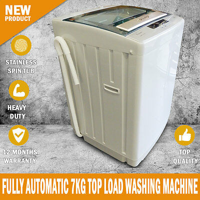 BRAND NEW Fully Automatic 7kg Top Load Washing Machine White 1 Year Warranty
