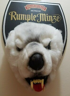 Rumple Minze Primal Peppermint Schnapps Trophy Bear Head Rare