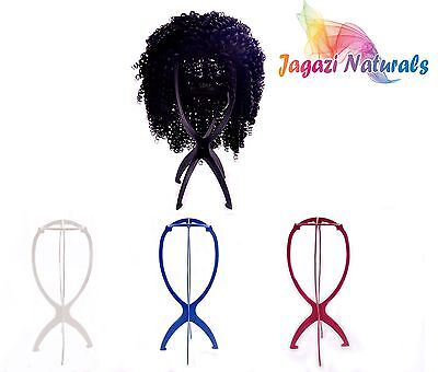 UK: 1 (one) Foldable wig display stand mannequin dummy head hat holder, stable