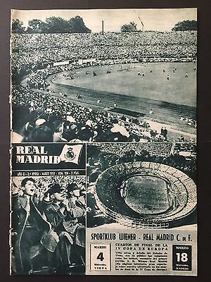 1959 European Cup.Quarter-final. Wiener Sport Club-Real Madrid.Preview