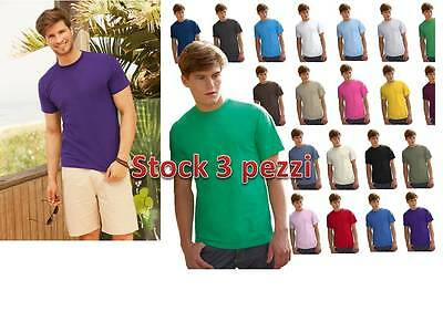 stock SET 3 Pz MAGLIETTA MANICA CORTA UOMO FRUIT OF THE LOOM  PERSONALIZZABILE*