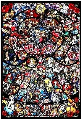 Disney Pixar Stained Glass Cross Stitch Chart