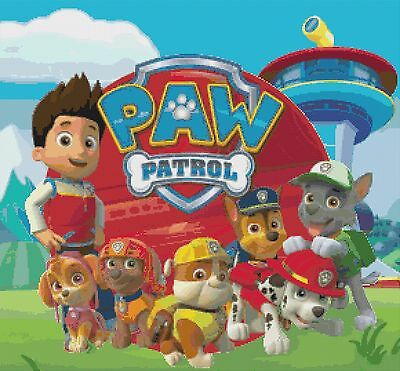 Paw Patrol  Cross Stitch Chart x 2