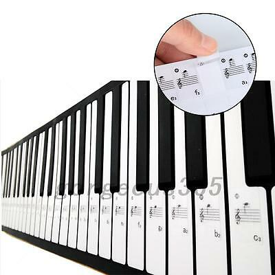 Removable 61 Key Electronic Keyboard Stickers 88 Key Piano Stave Note Sticker