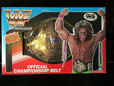 Wwf Ultimate Warrior Championship Belt Gig Vintage New !!!!