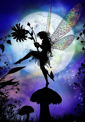 Fairy Silhouette (1) B/W Cross Stitch Chart