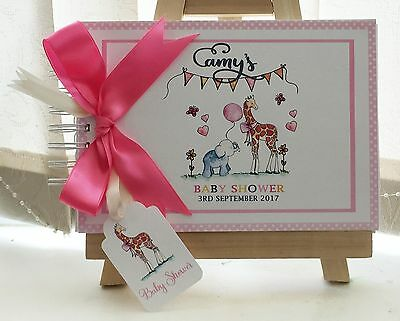 Personalised Baby Shower Animals Guest Book Memory Album Scrapbook Extra Pages