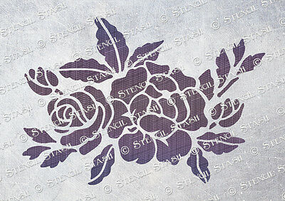 Rose Flower STENCIL A4 RP French Vintage Chic Furniture Crafts QUALITY 190 MYLAR