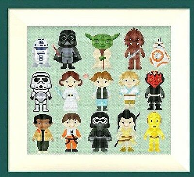 Star Wars Mini's Sampler Cross Stitch Chart