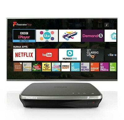 Humax FVP-4000T 500GB HDD TV Recorder with 3 Freeview+HD Tuners - Mocha