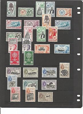 Sierra Leone - Collection to £1.  1964 - 66 Airmail, overprints & self adhesive