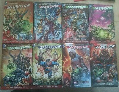 Justice League New 52-Complete (1,2,3,4,5,6,7,8) Geoff Johns  Jim Lee HB 1st ed