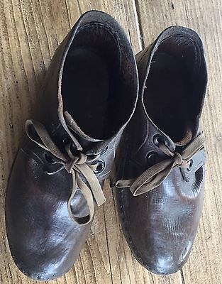 Vintage Children's Leather Clogs c1920s
