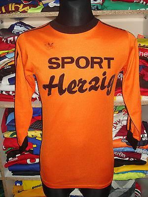 #15 VINTAGE 1980s ADIDAS ERIMA SHIRT SIZE M 5/6 MADE IN WEST GERMANY JERSEY f169