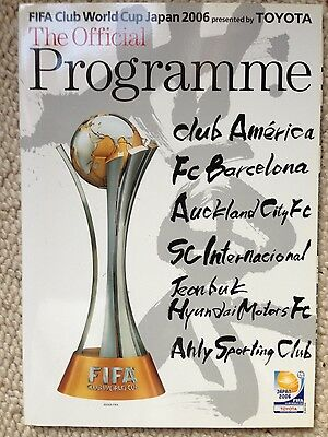 FIFA CLUB WORLD CUP 2006 JAPAN Official Programme FC BARCELONA CLUB AMERICA
