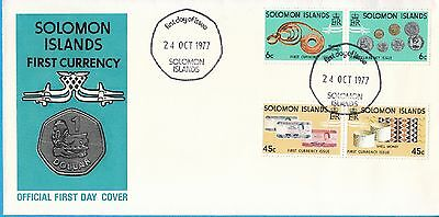 Solomon Islands stamp FDC: 1977 First Currency SB123528