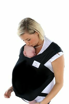 Liberty sling Baby cotton stretchy wrap carrier in BLACK , Great Breastfeeding