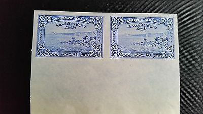 IFS India Hyderabad Imperforate Pair SG45a 1931 4a scarce Cat Val £140