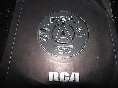 Ex+ Al Stewart Paint By Numbers Uk Rca 17 Rock/pop 7 Inch Single 45 Listen