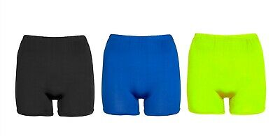 Womens Shiny Dance Fitness Sports Hot pants Stretch Activewear Ladies Shorts