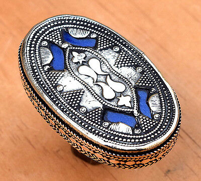 Turkmen Tribe Carved Bohemian Ring Signet Jewelry Afghan Kuchi Ethnic Gypsy Boho